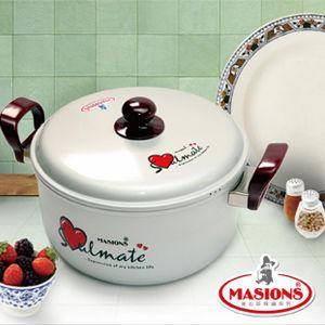 【美心 Masions】珍珠鍋系列-日式湯鍋 24cm(珍珠銀)