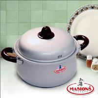 Masions美心珍珠鍋系列荷蘭大肚湯鍋 22CM珍珠銀