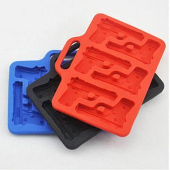 窩自在★手槍造型製冰格/長方形冰杯/製冰盒