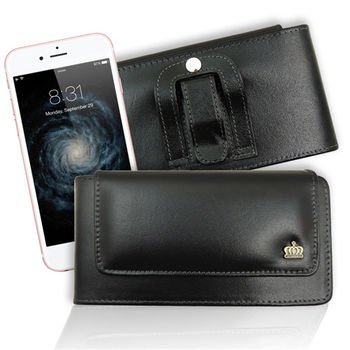 Jia Guan iPhone 6 / 6s 帥氣純牛皮橫式腰掛皮套 (台灣製造)