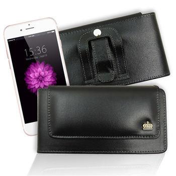 Jia Guan iPhone 6 plus / 6s plus 帥氣純牛皮橫式腰掛皮套 (台灣製造)