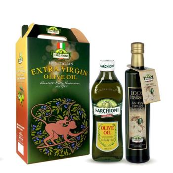 法奇歐尼 經典橄欖油500ml+義大利莊園冷壓初榨橄欖油500ml