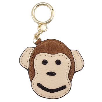 【MICHAEL KORS】 可愛猴子造型皮革吊飾(焦糖)