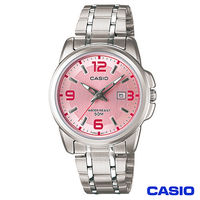 CASIO卡西歐 簡約優雅指針型氣質女錶-粉 LTP-1314D-5A
