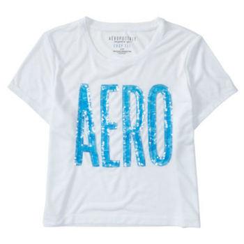 美國原裝進口Aeropostale logo短版T恤