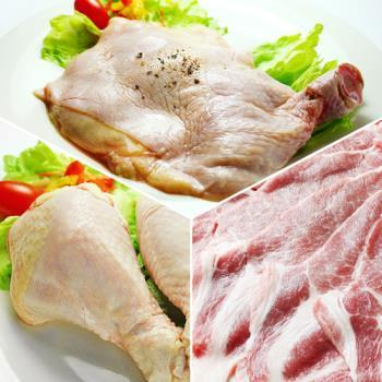 那魯灣 台灣國產肉品優質組合 (去骨雞腿*4支、棒棒腿*6支、梅花豬肉片*1包)