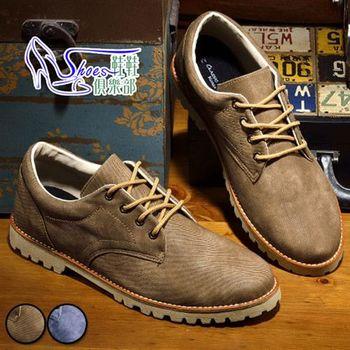 【ShoesClub】【545-WK221】LUXPLAY 台灣製MIT 西部牛仔異材競體立感新境界休閒鞋.2色 藍/咖