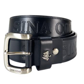 【SINA COVA】老船長品牌經典壓紋牛皮休閒皮帶 SC2251-1黑