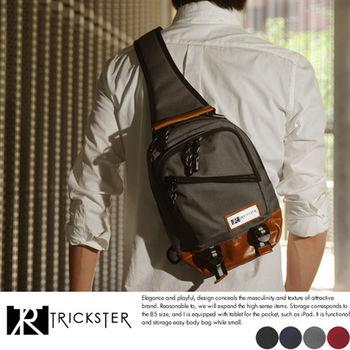 【TRICKSTER】日本品牌 斜背包7個口袋 腳踏車包 B5 單肩背包 多夾層機能包【tr1454】