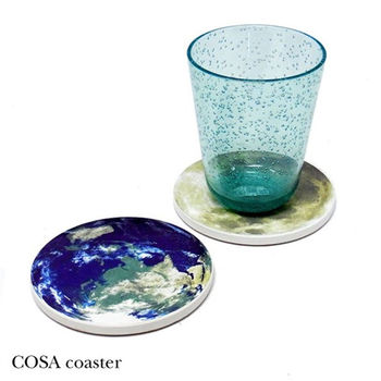 日本 COSA Water-Absorabable Coaster 星球吸水杯墊 (2入/組)