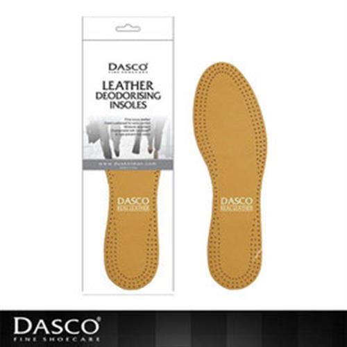 【鞋之潔】英國伯爵DASCO男鞋舒適真皮鞋墊 植物性塗料不塗覆化學成份 認証抗菌成份 預防臭味