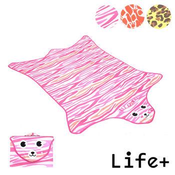 【Life Plus】動物叢林 造型野餐墊/遊戲墊 (粉色 虎紋)