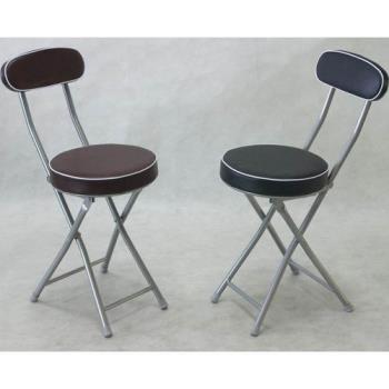 BROTHER 兄弟牌丹堤有背折疊椅(黑色)或(咖啡色)~PU加厚座墊設計,1張/箱~家居休閒必備