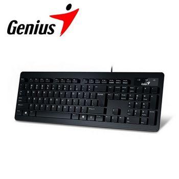 Genius昆盈Slim Star 130超薄時尚輕巧鍵盤 黑(SlimStar130-BK)