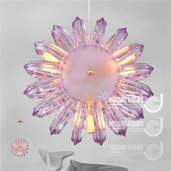 Magic Light光的魔法師 鸚鵡螺吊燈三燈(紫)