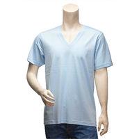 Y-3 山本耀司經典LOGO純棉短袖V領T恤(水藍-S號)
