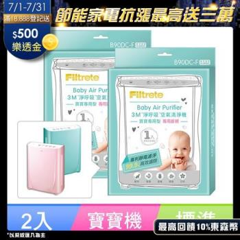 3M 淨呼吸寶寶專用型空氣清淨機專用B90DC-F濾網2入組