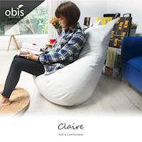 【obis】沙發 懶骨頭 躺椅 Claire貓形超微粒舒適懶骨頭(五色)