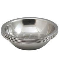 omax高級不銹鋼湯碗(18cm-中) 6入+保溫保冷袋1入(隨機出貨)