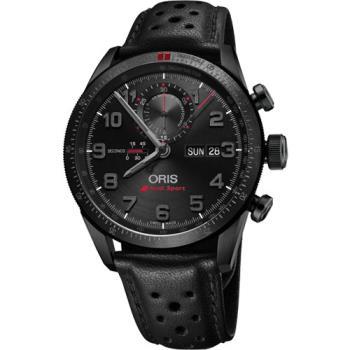 Oris Audi Sport 鈦限量賽車聯名計時腕錶-黑/44mm 0177876617784-SetLS
