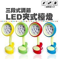 金德恩 LED三段亮度夾燈