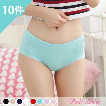 【PINK LADY】經典款 美鑽輕盈無痕內褲3309 (10件組)