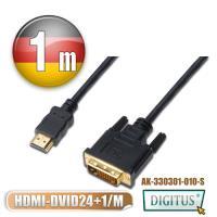 曜兆DIGITUS HDMI轉DVI-D(24+1)互轉線-1公尺(公-公)