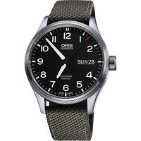 Oris Big Crown ProPilot 日曆星期機械腕錶-黑x灰錶帶/45mm 0175276984164-0752217FC