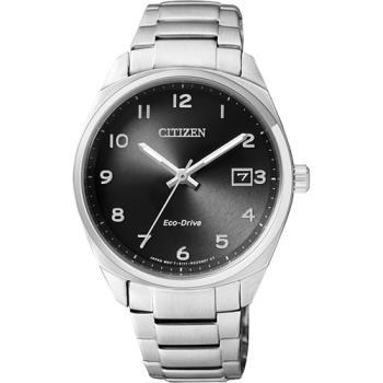 CITIZEN Eco-Drive 光動能經典簡約女錶-黑x銀/35mm EO1170-51E