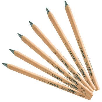 【德國 LYRA 彩繪系列】兒童三角原木鉛筆(17.5cm)6入 1830101x6