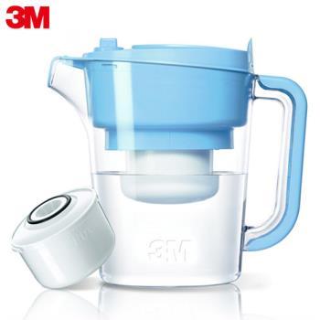 3M 即淨長效濾水壺WP3000-1壺+1濾心 晴空藍