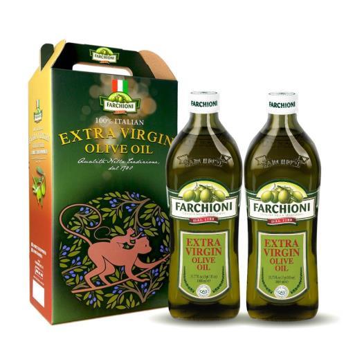 【法奇歐尼禮盒】頂級經典冷壓初榨橄欖油1000ml*2入