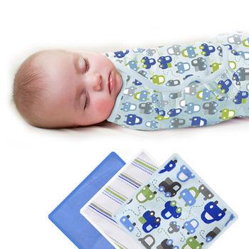 【美國Summer Infant】聰明懶人育兒包巾-加大(車車樂園3入組)