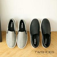 【TOMO】《韓國直送》質感鱷魚紋平底休閒懶人鞋(K120A2250)