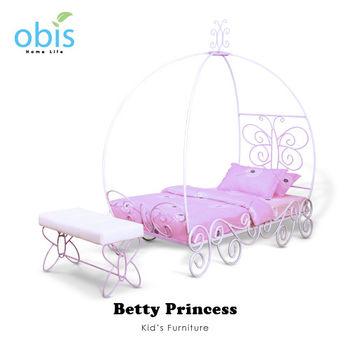 【obis】Kids Neverland 兒童單人床架-貝蒂公主