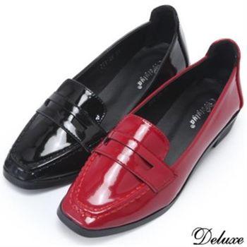 【Deluxe】英倫風學院派優雅方頭牛津鞋(黑★紅)-778-29