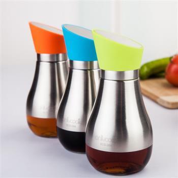 PUSH! 餐具廚房用品防漏密封調味罐醬油醋罐304不銹鋼油瓶一入D60