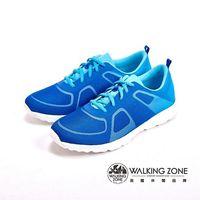 WALKING ZONE 漸層色造型 戶外運動鞋 男鞋-藍(另紅黑)