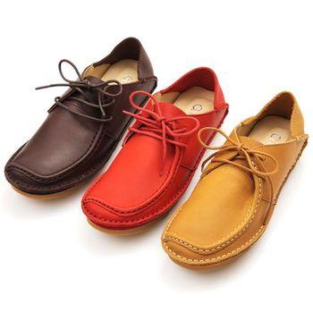 G.Ms. MIT系列-牛皮兩穿踩腳綁帶懶人休閒鞋-3色