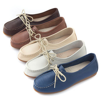 G.Ms. MIT系列-全真皮滾邊綁帶蝴蝶結休閒鞋-5色