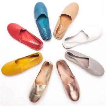 G.Ms. 超柔軟綿羊皮圓頭豆豆懶人休閒鞋-6色