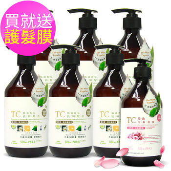 【TC系列】爸爸組-精油香氛抗屑髮浴6入 送玫瑰急救護膜