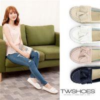 【TW Shoes】MIT經典流蘇舒適休閒豆豆鞋(K124AF4025)
