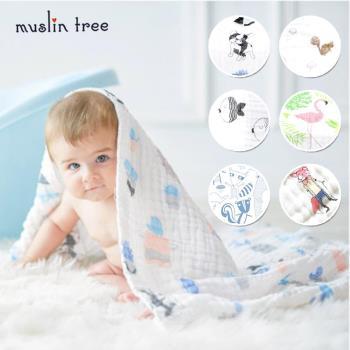 【荷蘭 Muslin tree】 嬰兒6層多功能竹纖維無熒光紗布包巾
