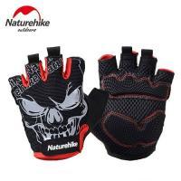 【Naturehike】抗震防滑耐磨半指騎行手套/運動手套 (炫黑)