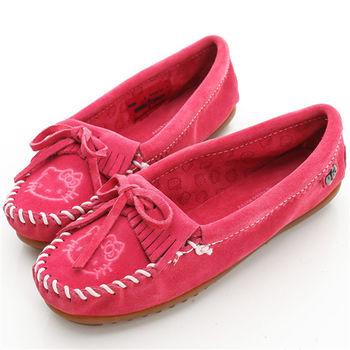 MINNETONKA KITTY聯名 粉紅色 莫卡辛平底鞋-605K