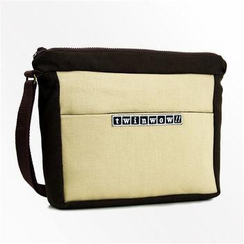 twinwow-簡約輕巧-細緻質感斜背包-卡其咖啡