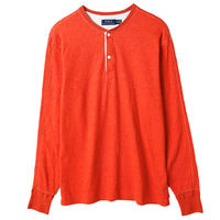 Ralph Lauren 亨利領長袖上衣經典款 橘(S-XL)