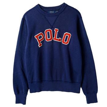 Ralph Lauren 男士圓領長袖棉T經典款 藍(S-XL)