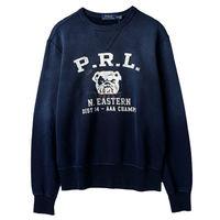 Ralph Lauren 男士圓領鬥牛犬長袖棉T經典款 深藍(S-XL)